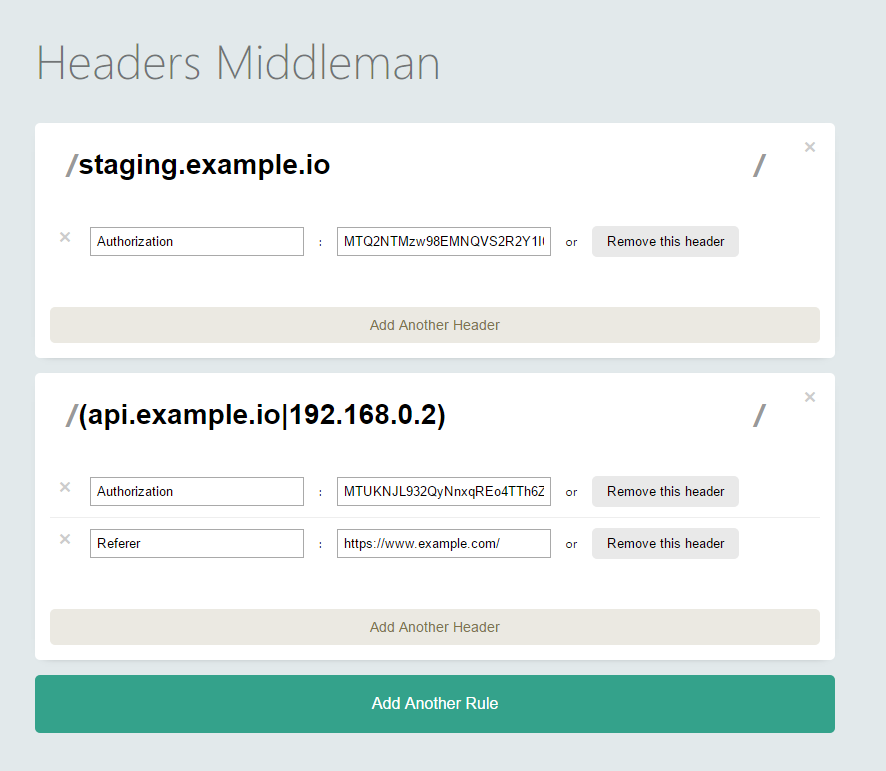 the Headers Middleman project